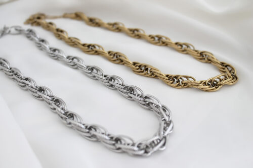 Chain ketting goud zilver