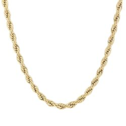 Twisted ketting goud