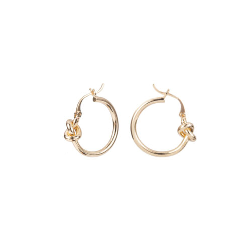 Knot oorbellen goud