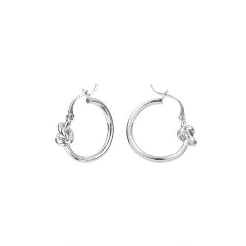 Knot oorbellen zilver