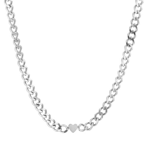 Chain of love ketting zilver