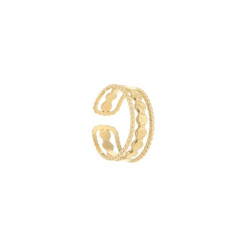 Triple ring goud
