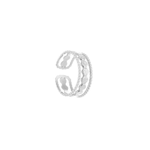 Triple ring zilver