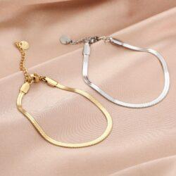 Snake armband goud en zilver