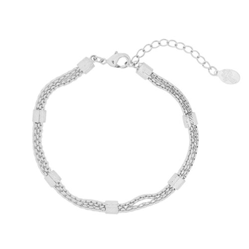 Strapped armband zilver