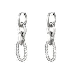 chained oorbellen