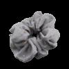 scrunchie met sterrenprint grijs