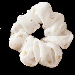 witte scrunchie met sterren
