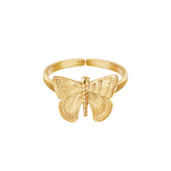 Butterfly ring goud