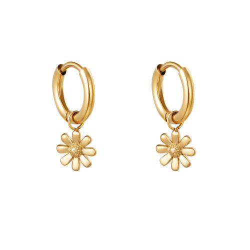 Daisy oorbellen goud