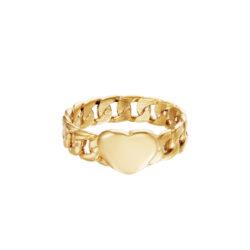 heart chain ring