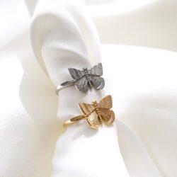 Butterfly ring van stainless steel