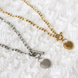 Love Lock heart ketting zilver goud