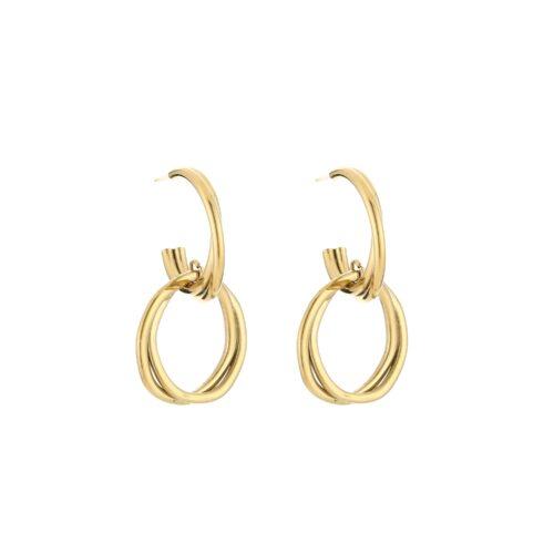 Monica oorbellen goud