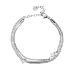 Stars 3-in-1 armband zilver