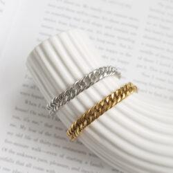chunky chain armband zilver en goud