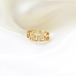 labyrinth ring goud