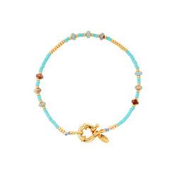 Beads armband blauw