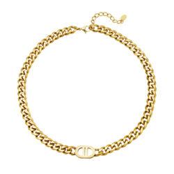 lock chain ketting goud