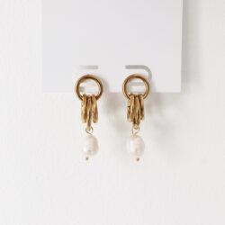 Parel oorbellen goud