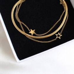 Stars 3-in-1 armband goud