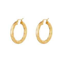 Twisted hoops oorbellen goud