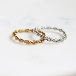 twisted ring in goud en zilver