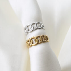 chain ring goud zilver