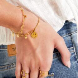 smiley star armband